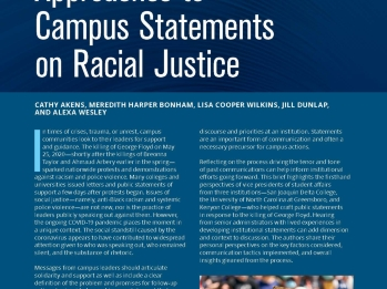 Approaches to Campus Statements on Racial Justice Cover