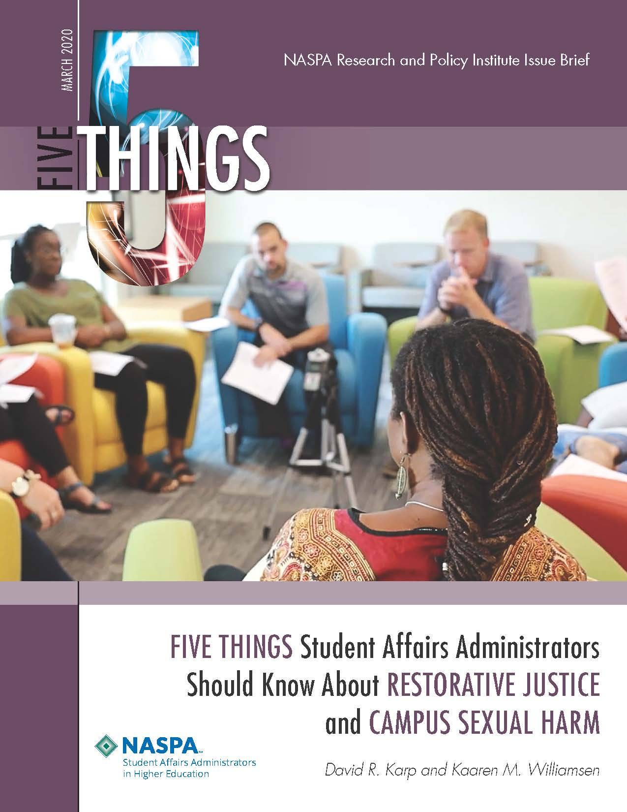 Five Things Student Affairs Administrators Should Know About Restorative Justice and Campus Sexual Harm Cover
