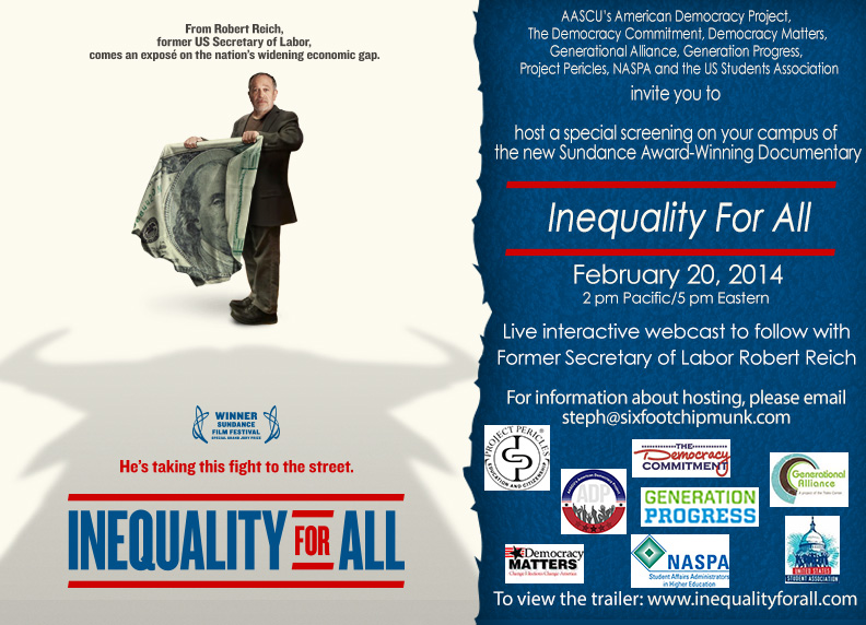 inequality for all Resources for further reading, listening and watching.